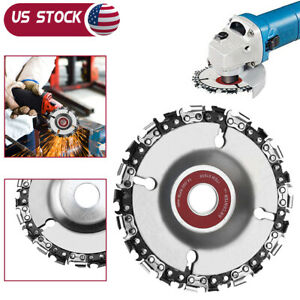 4'' Angle Grinder Disc 22 Tooth Chain Saw for Wood Carving Cutting Tool Woodwork