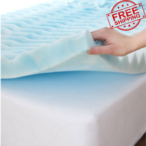 QUEEN Size Foam Mattress Topper 3 Inch Gel Orthopedic Pad Cover Memory Bedding