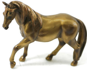 Cold Cast Bronze Horse Stallion Sculpture Thoroughbred Statue By Miguel Lopez $59.95