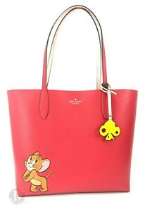 Kate Spade WKRU6561 Tom & Jerry Large Reversible Tote Handbag Bag Purse