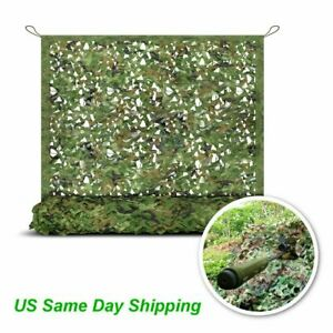 10FT Camo Netting Woodland Military Camouflage Mesh Netting for Camping Hunting
