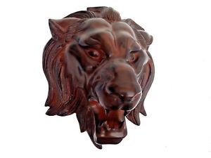 Large Metal Lion Wall Head Sculpture Figurine Statue 15x12 inches Faux Taxidermy