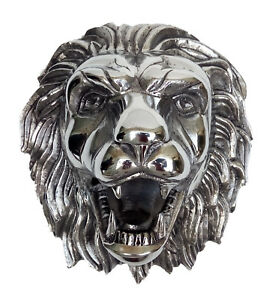 Metal Lion Wall Head Faux Taxidermy Figurine Statue