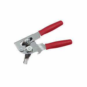 Swing A Way Portable Can Opener with Bottle Opener Comfort Handles Red