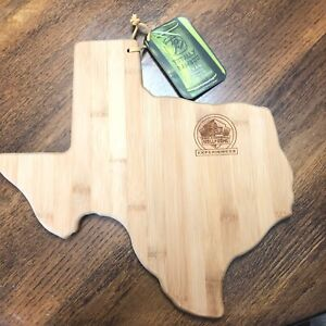 Bamboo Cutting Serving Board Texas Football Hall Of Fame