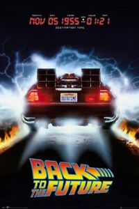 BACK TO THE FUTURE MOVIE POSTER DELOREAN SIZE: 24quot; x 36quot;