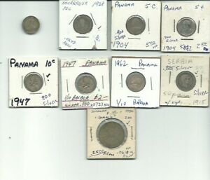 LOT OF 9 VINTAGE FOREIGN SILVER WORLD COINS FREE USA SHIPPING