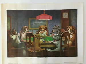 """Vintage Color Lithograph """"A Friend In Need"""" and Numbered PD 1 Brown amp; Bigelow $10.00"""