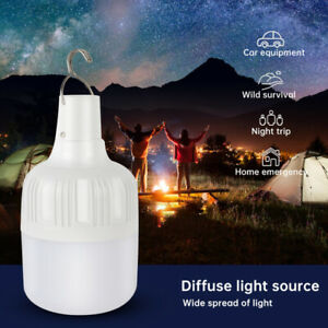 100W USB Rechargeable LED Camping Light Tent Lantern Emergency Handle Hook Lamp