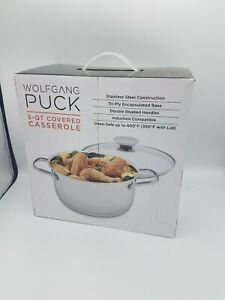NEW Wolfgang Puck 3-Quart Covered Casserole