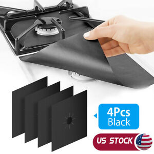 Kitchen Gas Stove Top Burner Reusable Protector Liner Cleaning Non-stick Cover