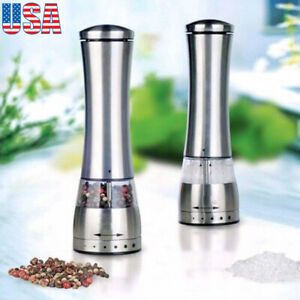 Electric Stainless Steel Salt Spice Pepper Herb Mills Grinders Tool Spice Muller