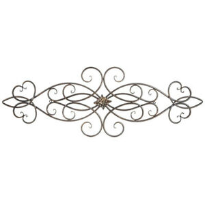 Scroll Metal Wall Decor With Medallion Gorgeous Home Decor $39.99