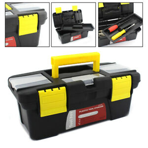 Small Portable Plastic Hardware Tool box with  Storage Box and Black for Home or