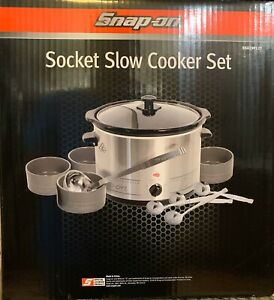 Snap-On Tools Stainless Steel Socket Slow Cooker Set Crockpot w/ Bowls
