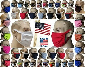 Face Nose Mask Unisex Washable Reusable Soft Double Layer Cotton