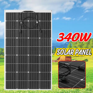 340W/240W 18V  Flexible Monocrystalline Solar Panel Connector Car Boat Camping