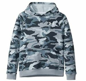 UNDER ARMOUR BOYS PULLOVER GRAY CAMO CAMOUFLAGE HOODIE SWEATSHIRT X LARGE XL NEW $17.99