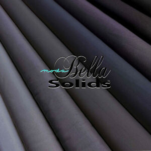 MODA quot;BELLA 9900quot; SOLID COTTON Gray Black by the 1 2 yard