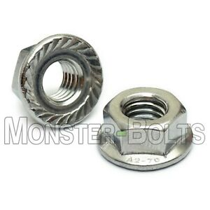 Serrated Hex Flange Lock Nuts DIN 6923 A2 Stainless Steel M4 M5 M6 M8 M10 M12