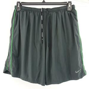 Mens Nike Running Dri Fit Gray Training Shorts Size XL Performance Workout Gym $27.99