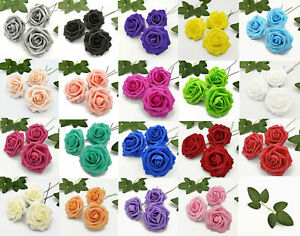 25 Artificial Flowers Rose Floral Bridal Wedding Bouquet Home Party Decoration $9.99