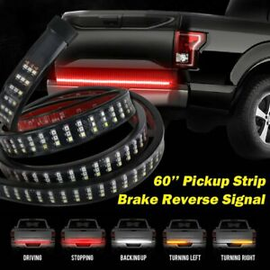 LED Truck Tailgate Light Bar Brake Reverse Turn Signal Stop Tail Strip 60 Inch