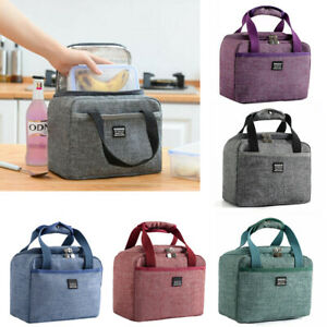 Portable Insulated Lunch Bag For Women Men Kids Tote Cooler Food Box Waterproof