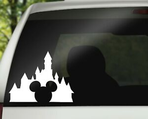 Disneyland Castle with Mouse Decal Vinyl Sticker for Car Wall or Laptop