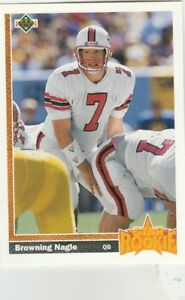 FREE SHIPPING MINT 1991 Upper Deck #11 Browning Nagle New York Jets ROOKIE $1.98