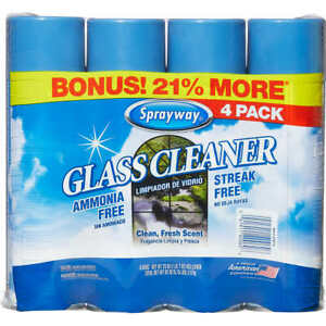 Sprayway Glass Cleaner 23oz - 4 Pack