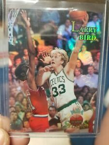 1996 97 NBA Topps Stars Larry Bird REFRACTOR Card #108 Boston Celtics