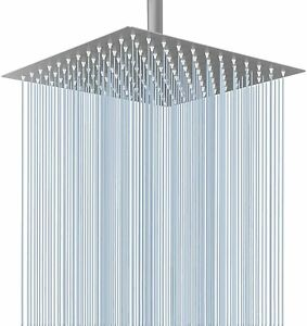 8-Inch Stainless Steel Square Rainfall Shower Head with Extension Arm Chrome