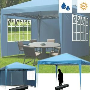 10' x 10'  Pop Up Canopy Tent Adjustable Height Instant Waterproof Shelter Party