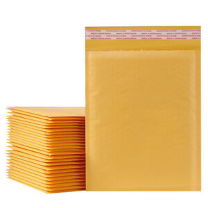 25 200Pc Kraft Bubble Mailer Padded Shipping Envelope Bags Self Sealing All Size $18.99