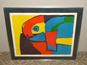 Vtg 1968 Signed KAREL APPEL Abstract Animal Artist#x27;s Proof LITHOGRAPH PRINT ART $1950.00