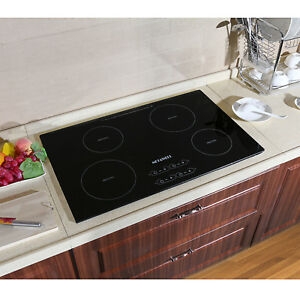 METAWELL 31.5quot; Electric Induction Hob 4 Burner Stove Touch Control Hob Cooktop