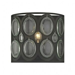 1 Up/Down Light Vanity Light With Oil Rubbed Bronze Finish With Clear Soda