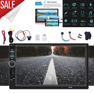 7 Double 2 DIN Car MP5 Player Bluetooth Touch Screen Stereo Radio With Camera $69.99