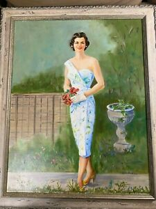 Edith Maurice Bregy Portrait Of A Young Woman Oil Painting Signed Framed $278.25