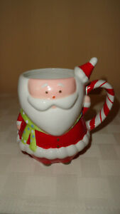 Target Home HOLIDAY 08 BE MERRY Ceramic Santa Mug
