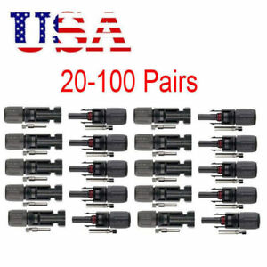 10/20/50/100pcs Waterproof Male Female M/F Wire Cable Connector Set Solar Panel