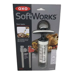Oxo Marinade Injector Flavor Syringe Cook Meat Poultry Turkey Chicken BPA Free