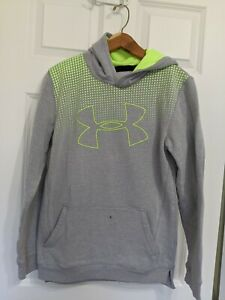 Boy's Youth Under Armour Sweatshirt Hoodie Size XL Gray $12.80