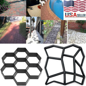 Garden Walk Pavement Mold Path Paving Cement Brick Stone Road Paver Maker DIY US
