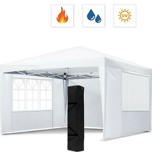 10 x 10 FT Pop Up Canopy Tent Adjustable Height Instant Waterproof Shelter Party