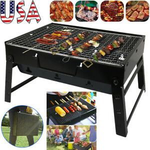 Portable Foldable Barbecue Charcoal Grill Stove Kabob BBQ Outdoor Camping Cooker