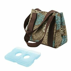 Fit & Fresh Women's Venice Insulated Lunch Bag~Stylish Lunch Bag~Teal Floral