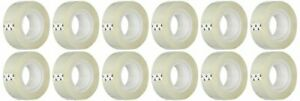 Business Source All-purpose Transparent Glossy Tape (43575) Pack of 12 White