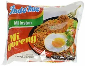 Indomie Mi Goreng Instant Stir Fry Noodles, Halal Certified, Pack of 30